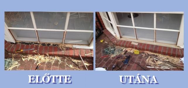 Vetemedett ablak javítása